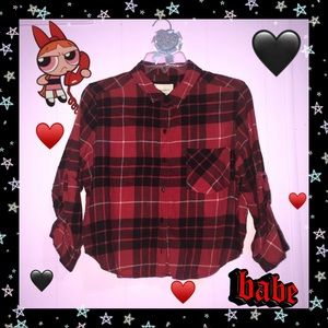 ♥️ 💉 Plaid Cropped Top 💉 🖤